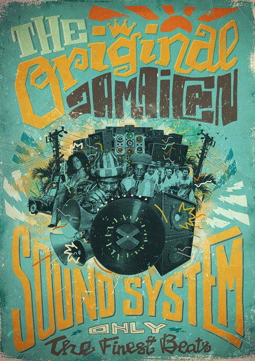 The Original Jamaican Soundsystem poster edition for the International Reggae Poster Contest.