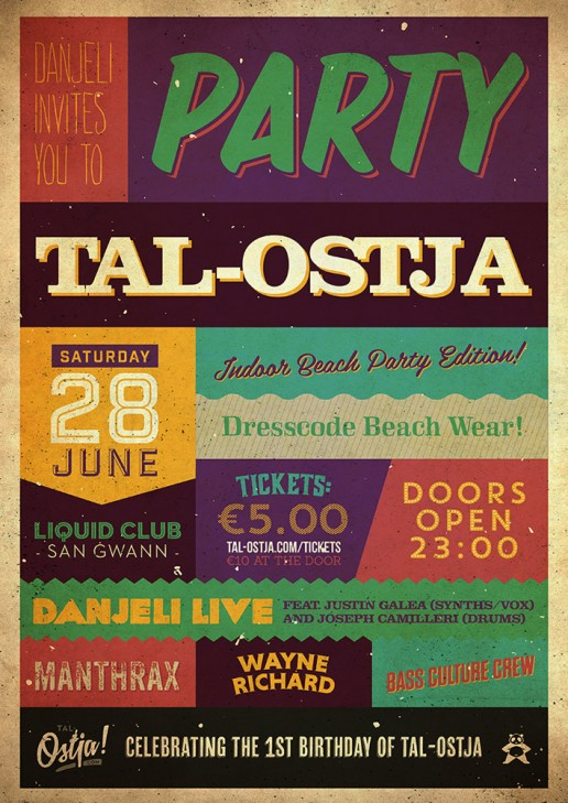 Party tal-Ostja poster design