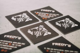 Business card design for Fredy's Diner Qormi