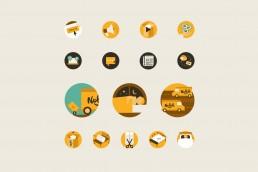 Nolah website custom made icons