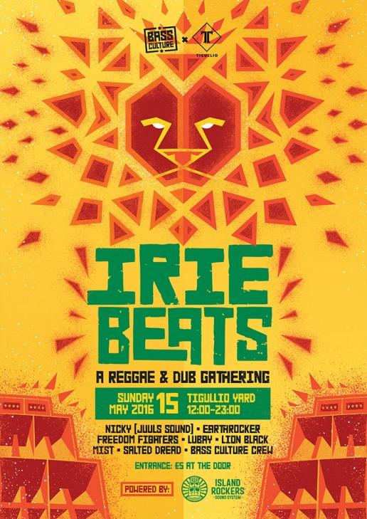 Irie Beats poster design for Bass Culture