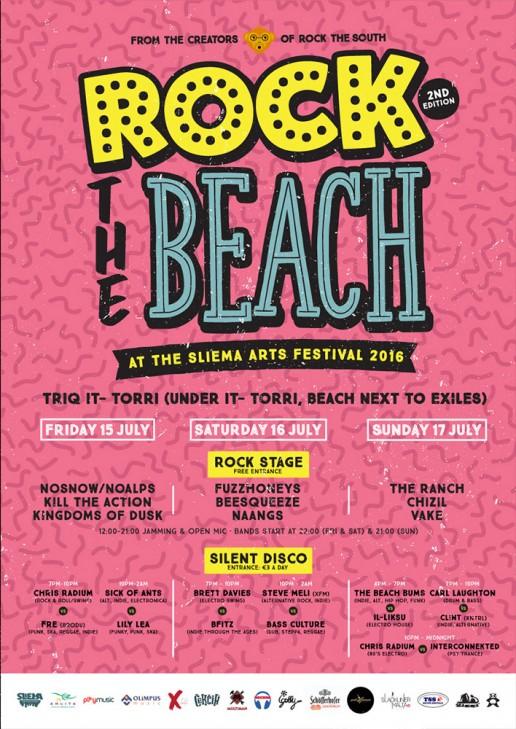 Rock the Beach poster design