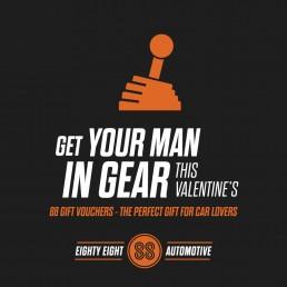 88 Automotive Valentines Day advert design