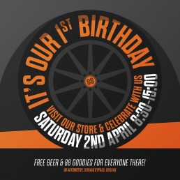 88 Automotive 1st birthday artwork design