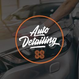 88 Automotive sub brand 88 Auto Detailing logo design