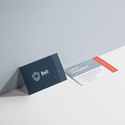 Business card design for Bell English language school