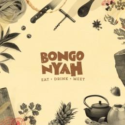 Bongo Nyah logo on collage background