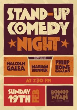 Bongo Nyah stand up comedy night poster design