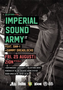 Poster design for Imperial Sound Army at Zion, Malta