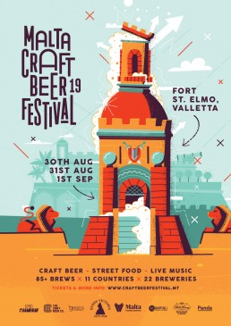 Poster design for Malta Craft Beer Festival 2019