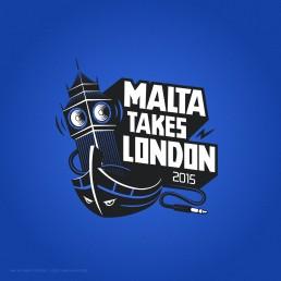 Logo design for Malta Takes London event 2015