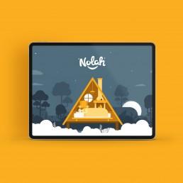 Nolah house illustration on ipad