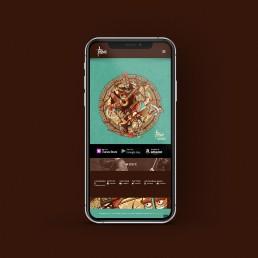 Website design viewed on mobile for Tribali