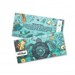 Ziggi rolling paper design for Zibel NGO Malta