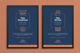 Proofreading Malta poster designs for students and writers