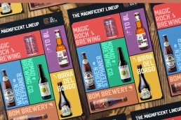 The Craft Beer Company all imported brands poster design