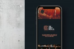 The Craft Beer Company website on iphone