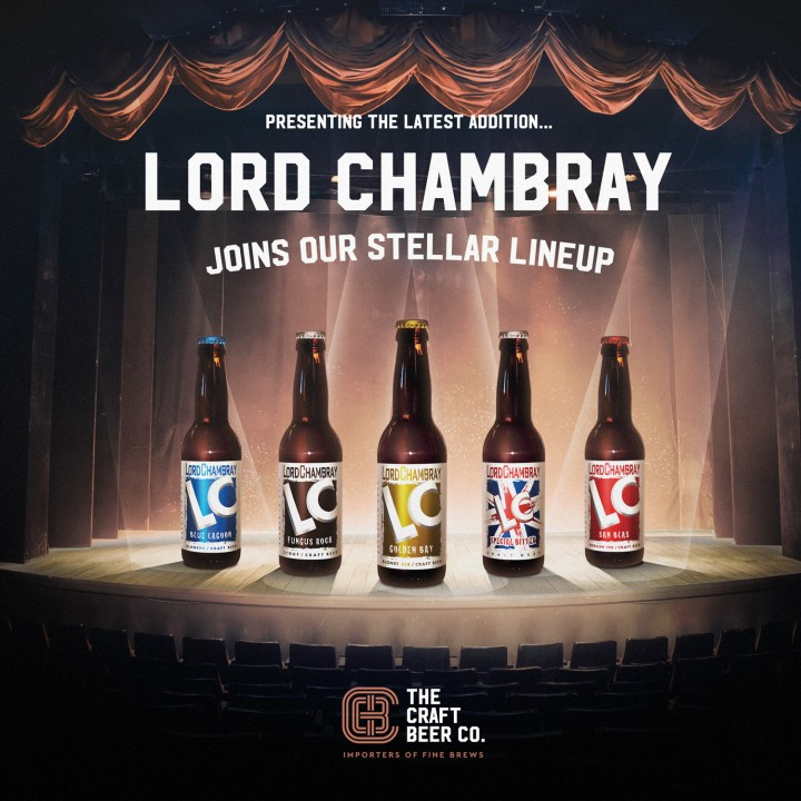Lord Chambray announcement advert for The Craft Beer Company