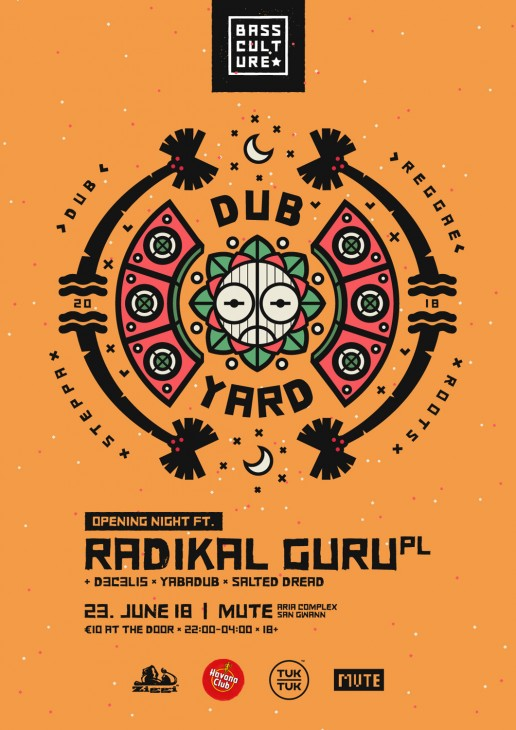 Poster design for Dub Yard by Bass Culture Malta