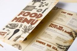 Bongo Nyah open printed folded menu