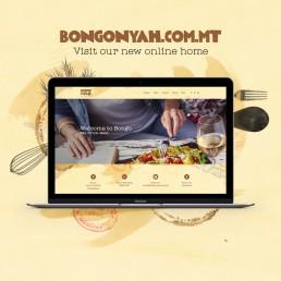 Bongo Nyah Marsascala website design mockup
