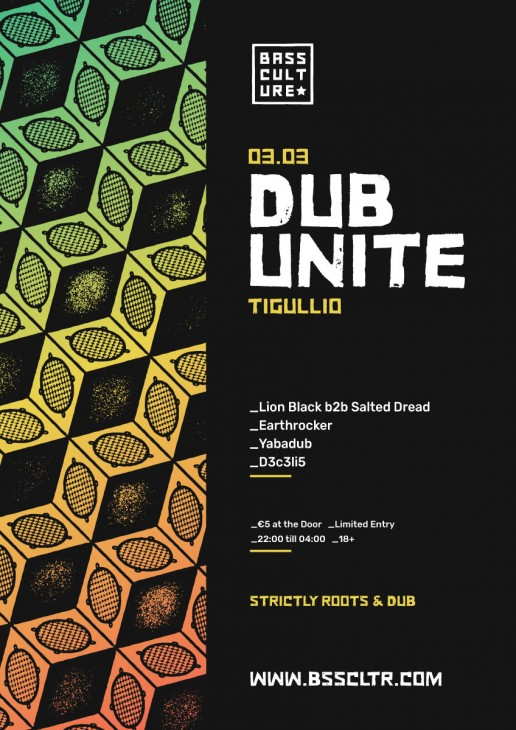 Poster design for Dub Unite by Bass Culture Malta