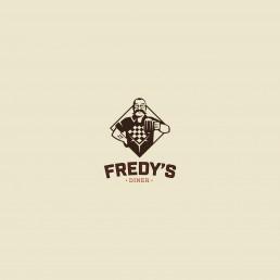 Logo design for Fredys american style diner in Qormi Malta