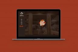 Fredy's Diner website design on macbook