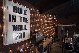 Interior shot of Hole in the Wall stage
