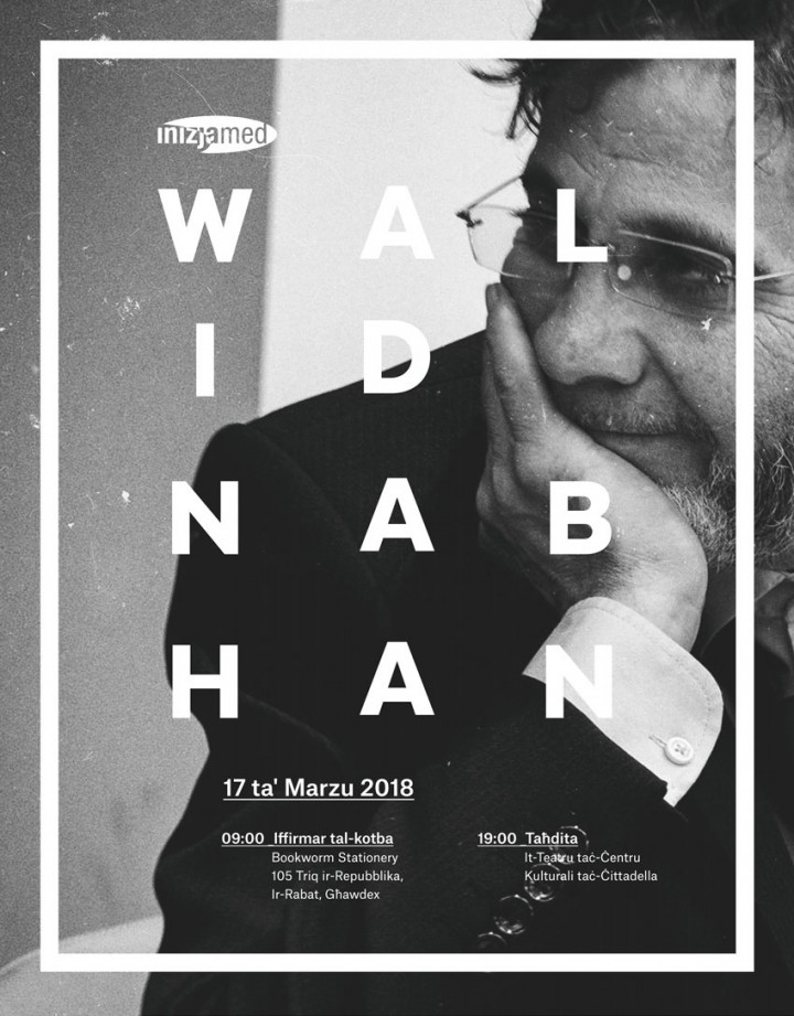 Poster Design for Walid Nabhan talk by Inizjamed Malta