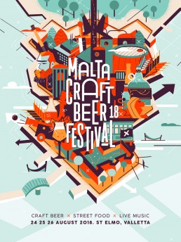 Malta Craft Beer Festival 2018 poster design