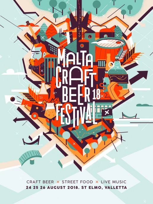 Malta Craft Beer Festival 2018 poster design