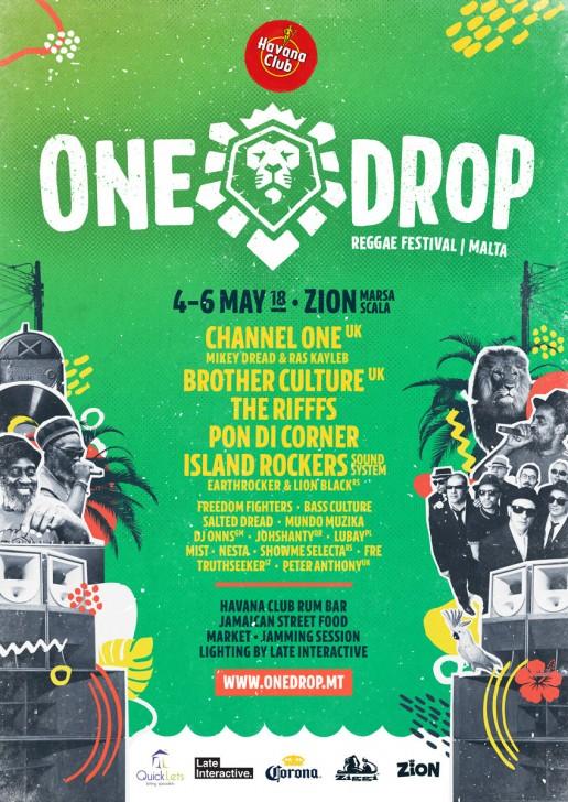 Poster design for One Drop Festival Malta 2018