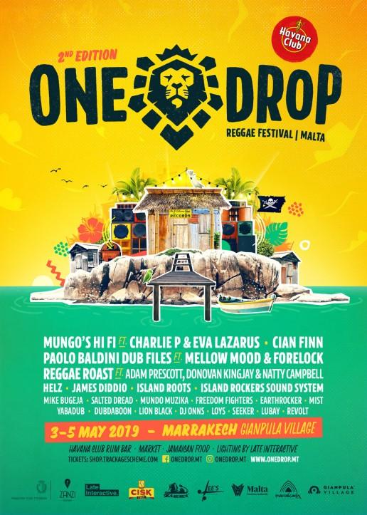Poster design for One Drop Festival Malta 2019