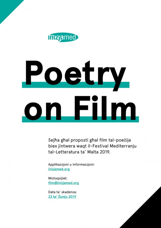 Poster design for Poetry on Film event by Inizjamed