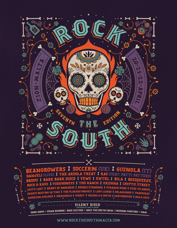 Rock the south 2018 poster design