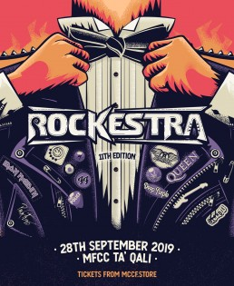 Event poster design for Rockestra 2019