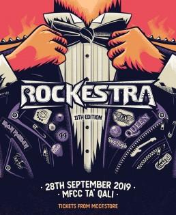 Event poster design for Rockestra 2019