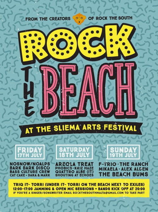 Poster design for Rock the Beach Malta