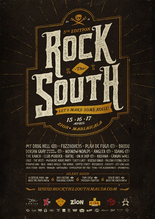 Poster design for Rock the South Malta 2016
