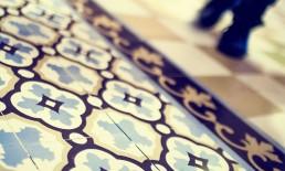 Close up shot of Bongo Nyah floor tiles