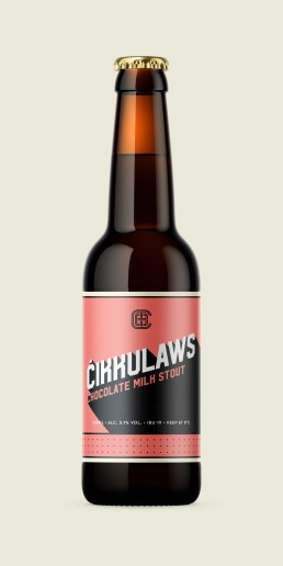 Cikkulaws beer label design for special edition chocolate milk stout