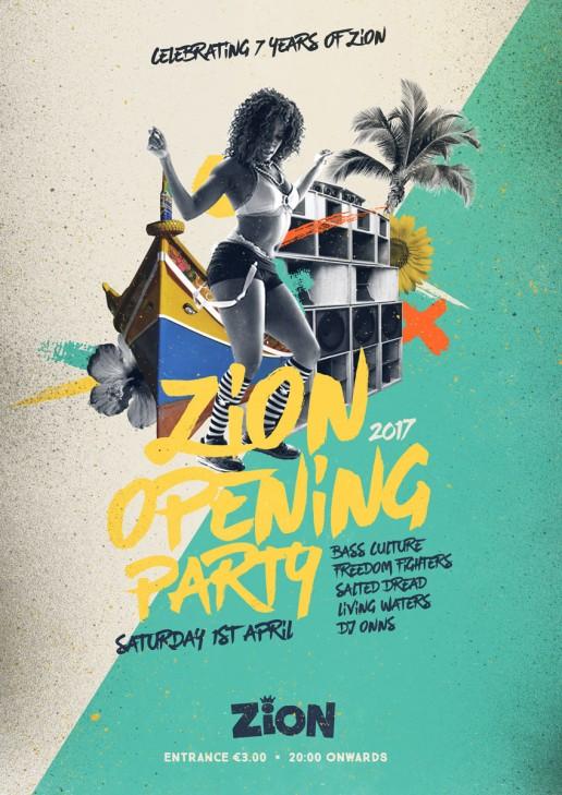 Poster design for reggae event at Zion Malta